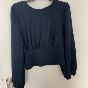 H&M shirt with puff sleeves